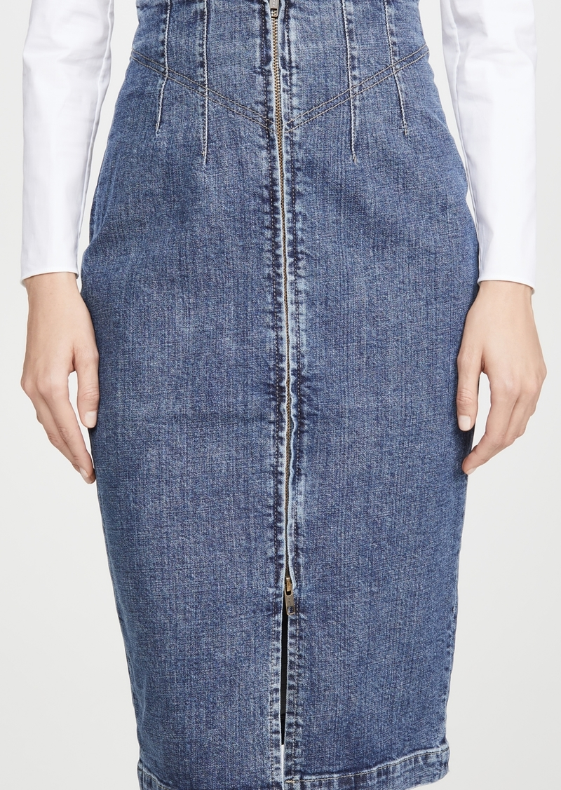La Vie Rebecca Taylor Dry Indigo Skirt