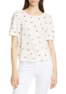 La Vie Rebecca Taylor Embroidery Detail Linen & Cotton Top