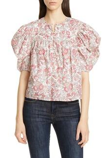 La Vie Rebecca Taylor Falaise Floral Cotton Blouse