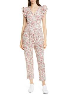 La Vie Rebecca Taylor Falaise Floral Cotton Jumpsuit
