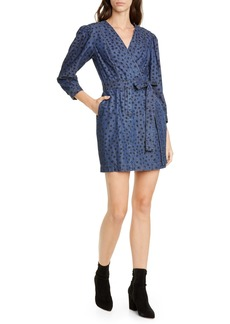 La Vie Rebecca Taylor Faune Faux Wrap Denim Dress