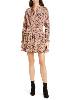 La Vie Rebecca Taylor Faune Long Sleeve Minidress
