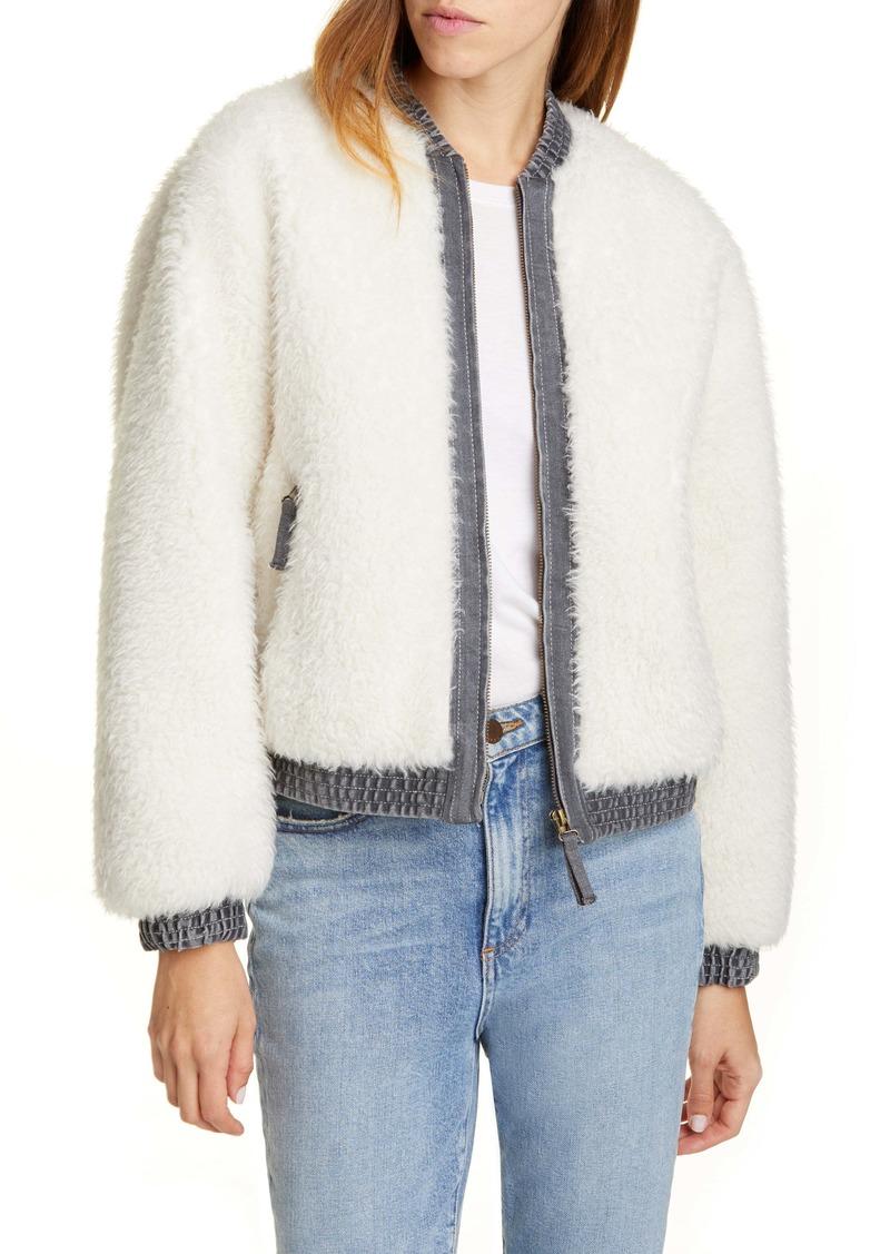 La Vie Rebecca Taylor Faux Fur Denim Jacket