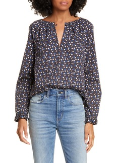 La Vie Rebecca Taylor Firefly Floral Long Sleeve Cotton Top