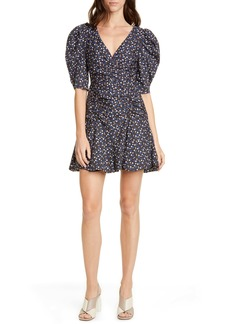 La Vie Rebecca Taylor Firefly Floral Puff Sleeve Cotton Dress