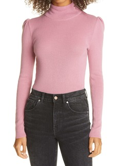 La Vie Rebecca Taylor Fitted Wool & Cotton Mock Neck Sweater