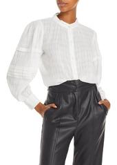 La Vie Rebecca Taylor Gauzy Long Sleeve Blouse