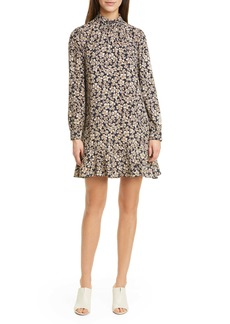 La Vie Rebecca Taylor Giselle Floral Long Sleeve Shift Minidress