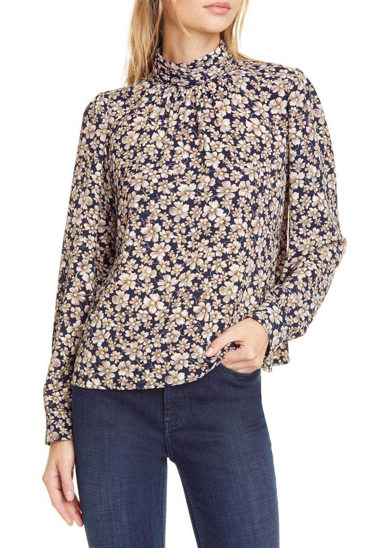 La Vie Rebecca Taylor Giselle Floral Print Long Sleeve Top