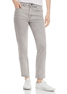 La Vie Rebecca Taylor Ines High-Rise Slim-Straight Jeans in Grey Mist
