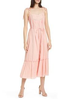 La Vie Rebecca Taylor Kelsey Clip Dot Cotton Sundress