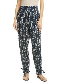 La Vie Rebecca Taylor Larkspur Floral Cotton Pants