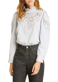 La Vie Rebecca Taylor Leah Embroidered Top