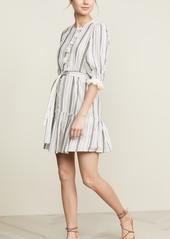 La Vie Rebecca Taylor Long Sleeve Eyelet Stripe Dress