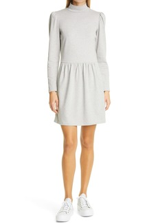 La Vie Rebecca Taylor Long Sleeve Heathered Cotton Jersey Dress
