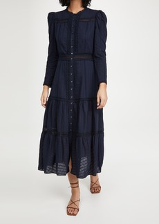 La Vie Rebecca Taylor Long Sleeve Ribbon Dress