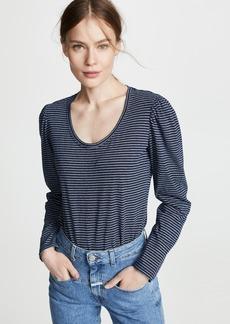 La Vie Rebecca Taylor Long Sleeve Striped Jersey Tee