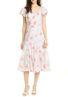 La Vie Rebecca Taylor Louise Floral A-Line Dress