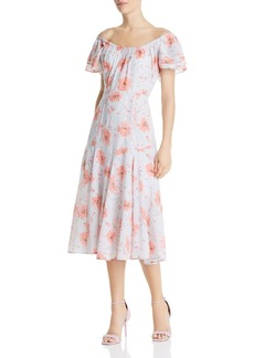 La Vie Rebecca Taylor Louise Floral Midi Dress