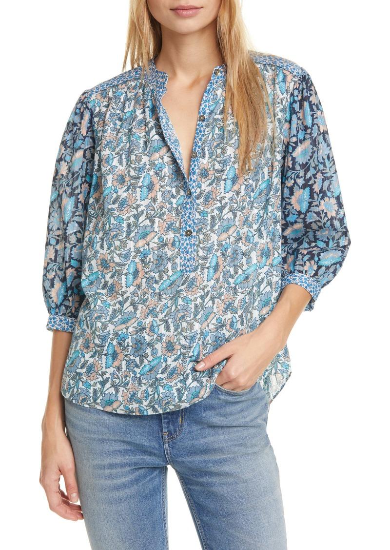 La Vie Rebecca Taylor Mix Floral Print Top