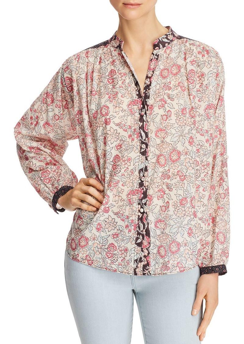 La Vie Rebecca Taylor Mixed Floral Shirt