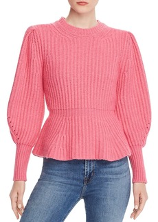 La Vie Rebecca Taylor Peplum Sweater