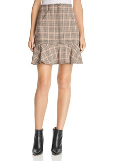 La Vie Rebecca Taylor Plaid Ruffled Mini Skirt