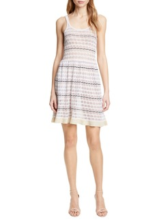La Vie Rebecca Taylor Pointelle Stripe Sweater Dress