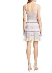 La Vie Rebecca Taylor Pointelle Stripe Sweater Dress