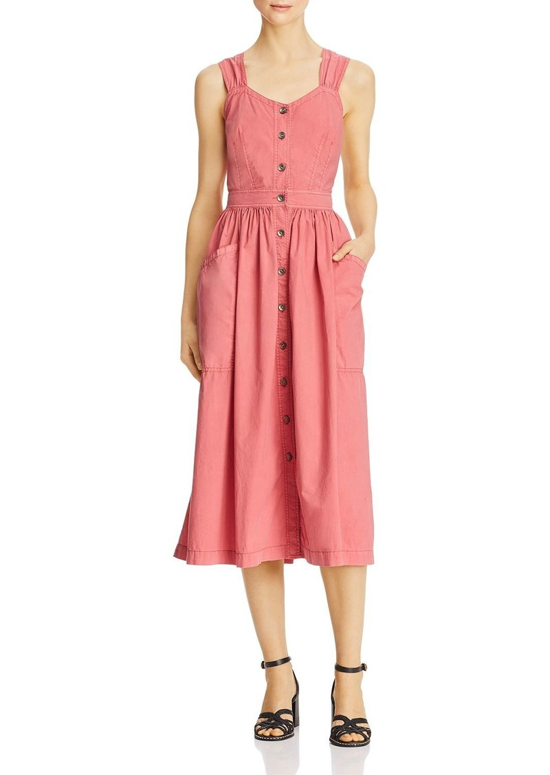 La Vie Rebecca Taylor Poplin Midi Dress