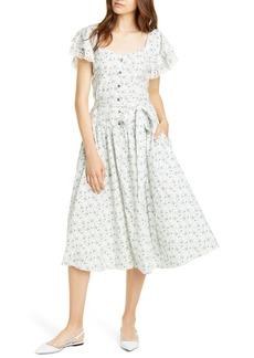 La Vie Rebecca Taylor Poppy Fields Belted Dress