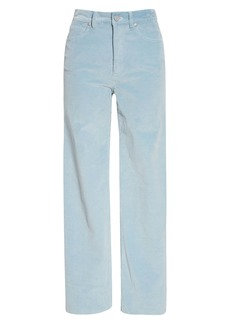 La Vie Rebecca Taylor Raw Hem Stretch Cotton Corduroy Pants