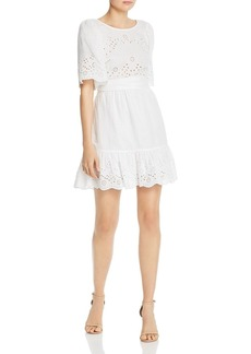 La Vie Rebecca Taylor Sarcelle Crossover Back Eyelet Dress