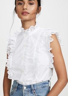 La Vie Rebecca Taylor Shell Embroidered Top