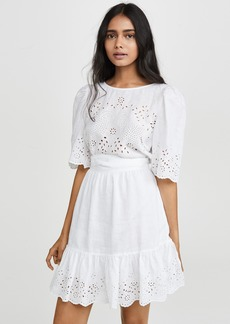 La Vie Rebecca Taylor Short Sleeve Sarcelle Dress