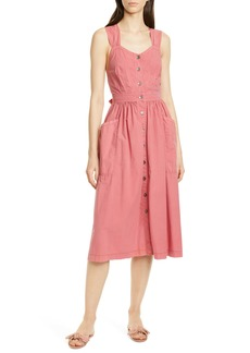 La Vie Rebecca Taylor Sleeveless Cotton Poplin Dress