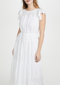 La Vie Rebecca Taylor Sleeveless Embroidered Voile Dress