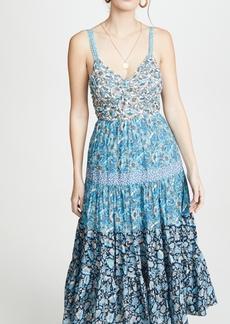 La Vie Rebecca Taylor Sleeveless Print Mix Dress