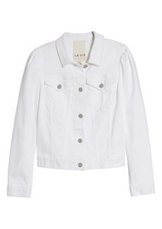 La Vie Rebecca Taylor Stretch Denim Jacket