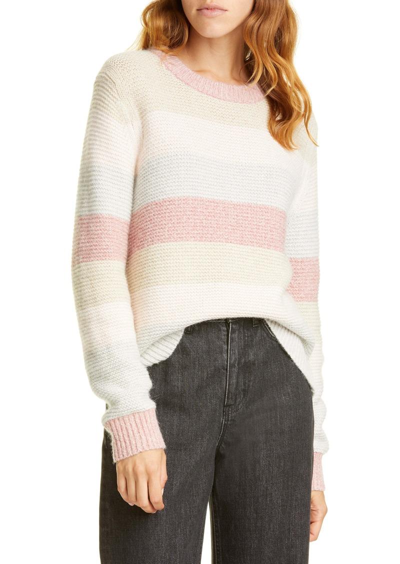 La Vie Rebecca Taylor Stripe Merino Wool Blend Sweater