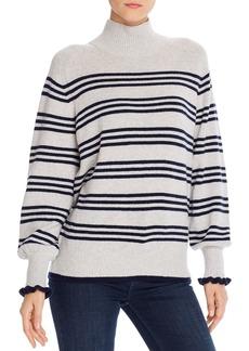 La Vie Rebecca Taylor Striped Blouson-Sleeve Sweater - 100% Exclusive