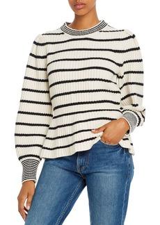 La Vie Rebecca Taylor Striped Peplum Sweater - 100% Exclusive