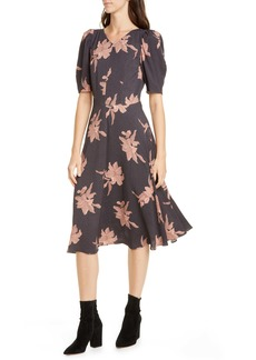 La Vie Rebecca Taylor Tiger Lily Puff Sleeve Dress