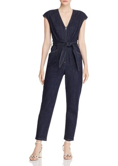 La Vie Rebecca Taylor V-Neck Denim Jumpsuit
