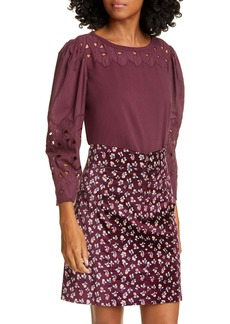 La Vie Rebecca Taylor Winter Garden Jersey Top