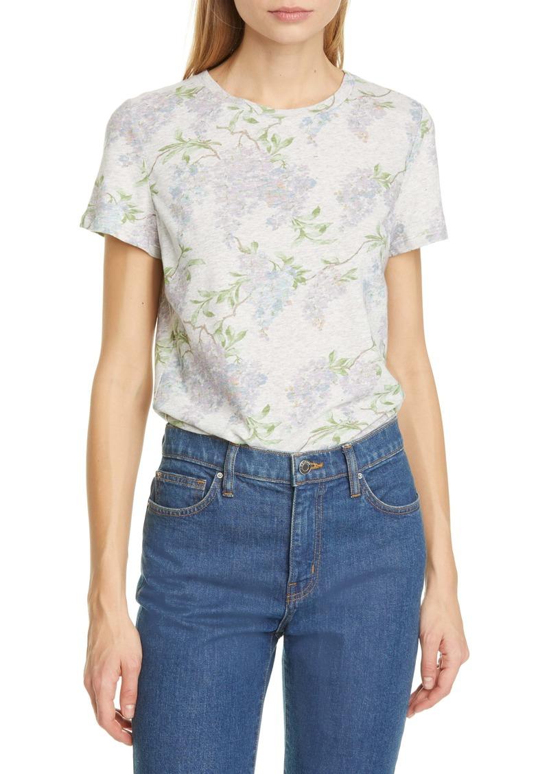 La Vie Rebecca Taylor Wisteria Linen & Cotton T-Shirt