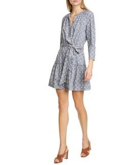 La Vie Rebecca Taylor Woodblock Print Long Sleeve Minidress