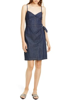 La Vie Rebecca Taylor Wrap Front Denim Minidress