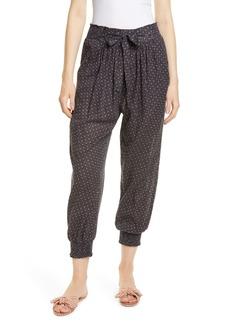 La Vie Rebecca Taylor Yasmine Tie Waist Cotton Pants