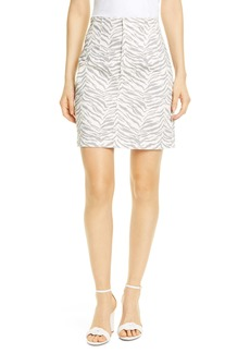 La Vie Rebecca Taylor Ziger Denim Pencil Skirt